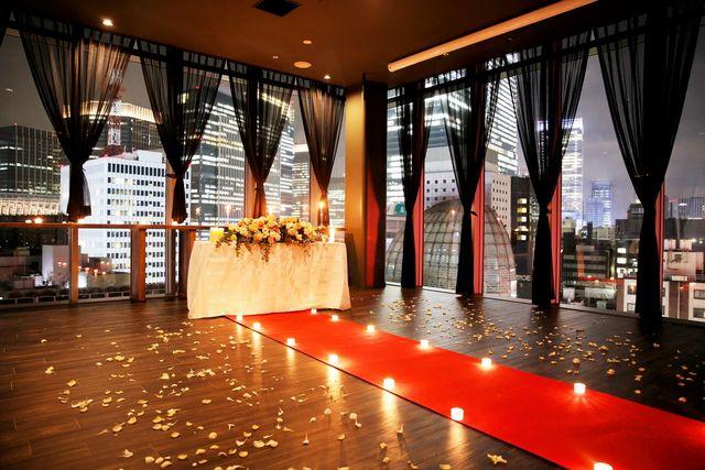 【銀座一丁目】3面ガラス張りの贅沢なパーティースペース!「シャンクレール パノラマラウンジ」